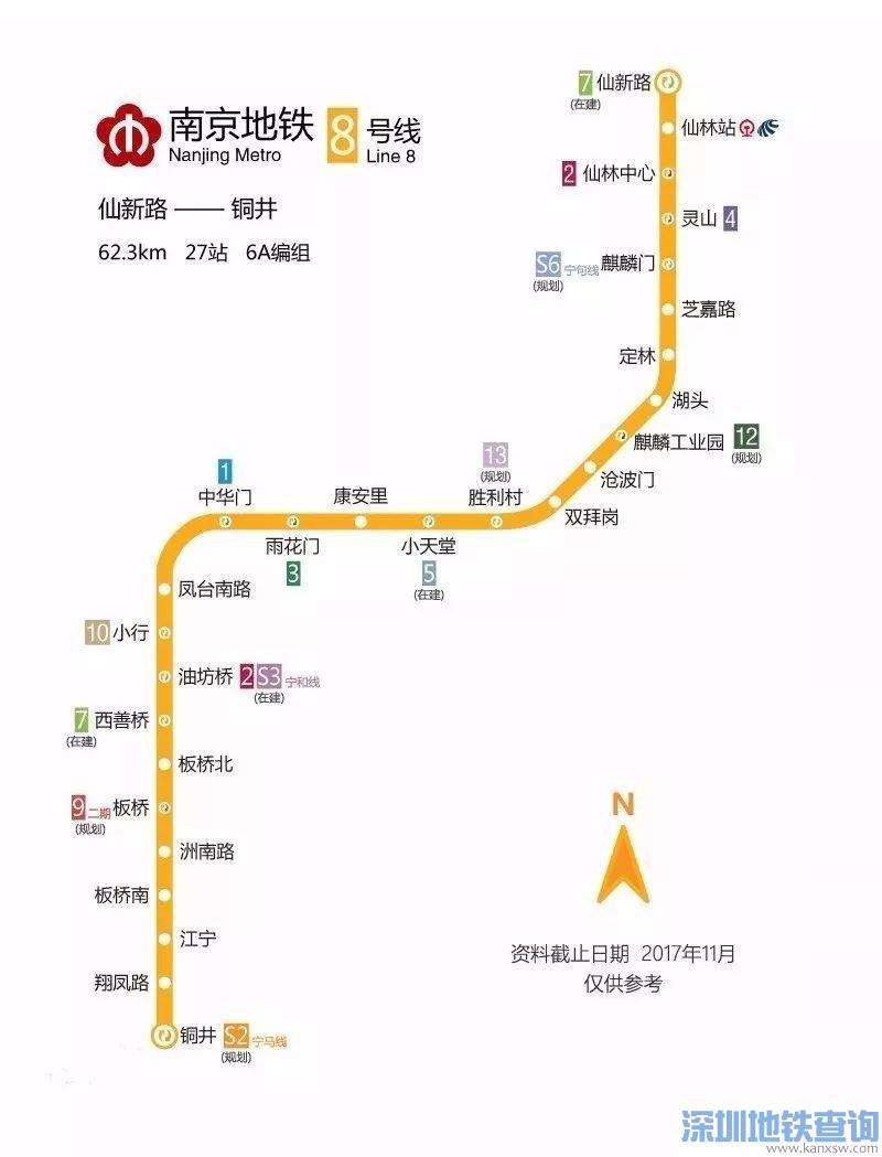 南京地铁8号线规划有哪些换乘站点?