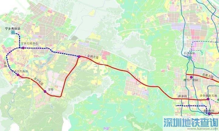 长沙有轨电车长宁线2019年最新消息进展、线路图