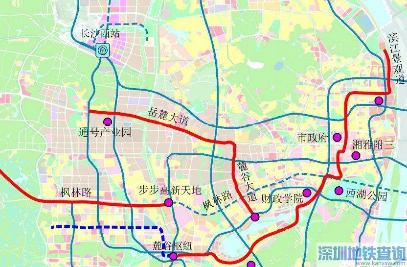 长沙有轨电车梅溪湖市府线2019年最新消息进展、线路图