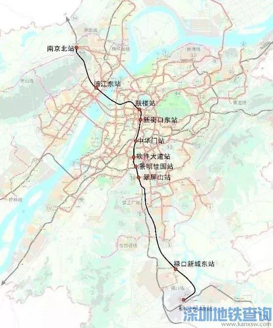 南京市域快线18号线最新规划线路图