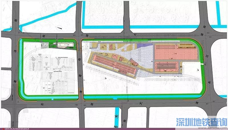 无锡地铁4号线具区路车辆段规划详情 效果图