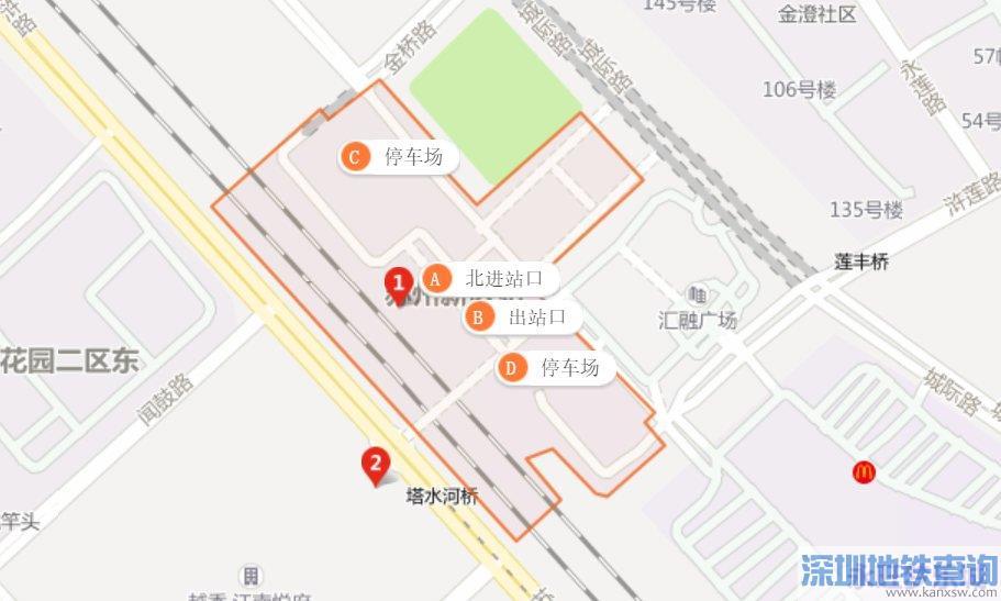苏州地铁3号线苏州新区火车站首末班车运营时间、出入口、接驳换乘公交)