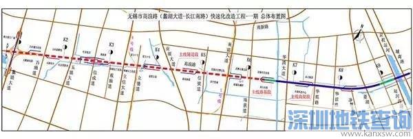 无锡高浪路快速化改造工程一期规划方案批前公示