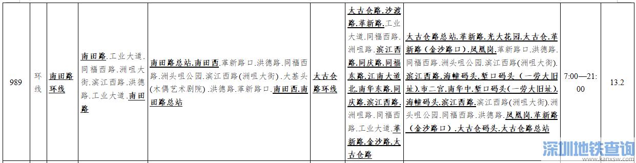 广州公交989路2019年12月29日起路线调整一览(图)