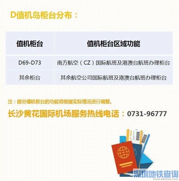 长沙黄花机场T1、T2航站楼值机柜台分布(2020最新)
