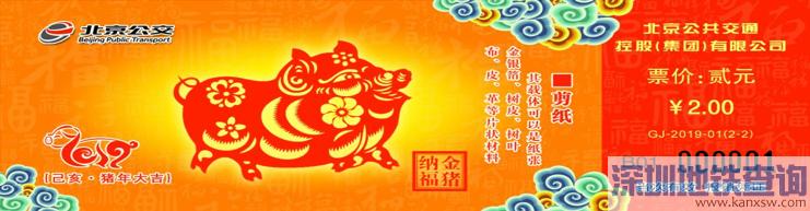 北京2019年猪年生肖纪念车票发售时间价格及在哪买