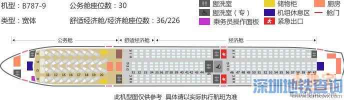深圳直飞爱尔兰首都都柏林航线近日开通 附航班号起飞时间票价座舱位置分布图