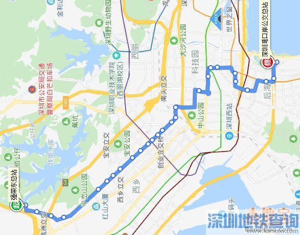 深圳公交高峰专线138号线路3月5日起大调整 宝安南山的小伙伴留意