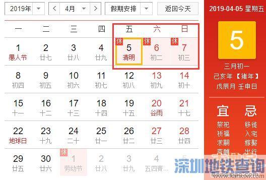 深圳2019年清明节假期会限行吗?