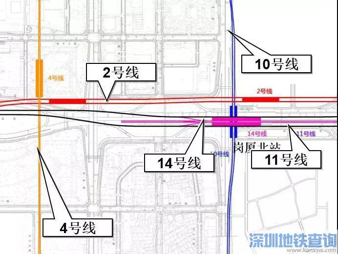 深圳岗厦北枢纽四线换乘最新进展:已进入主体结构施工阶段
