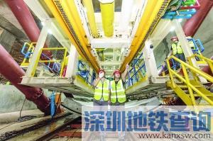 广州地铁18号线22号线共行隧道近日开挖