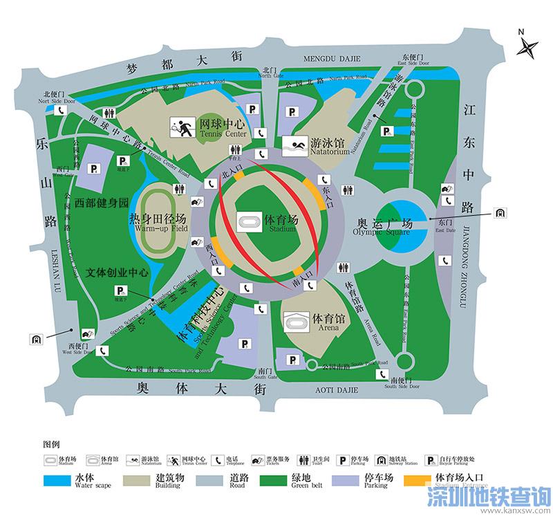 南京奥体中心体育场位置地址在哪?坐公交高铁大巴怎么去