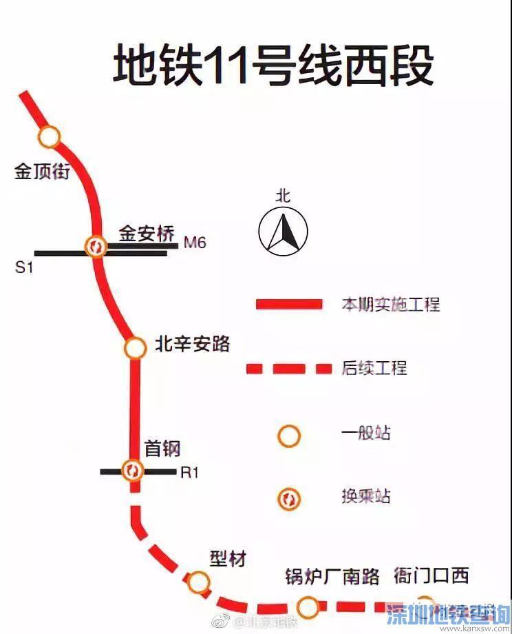 北京地铁11号西段冬奥支线