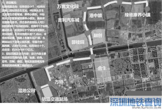 杭州湾新区轨道交通(一期) 规划要来了 总投资近29亿元