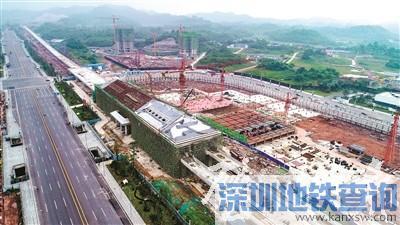 重庆地铁轨道交通1号线璧山站主体目前已经基本完工
