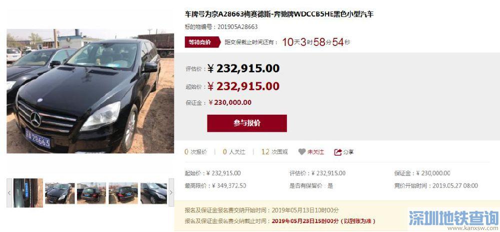 2019第2期京牌小客车司法处置车辆价格图片详情(63辆)