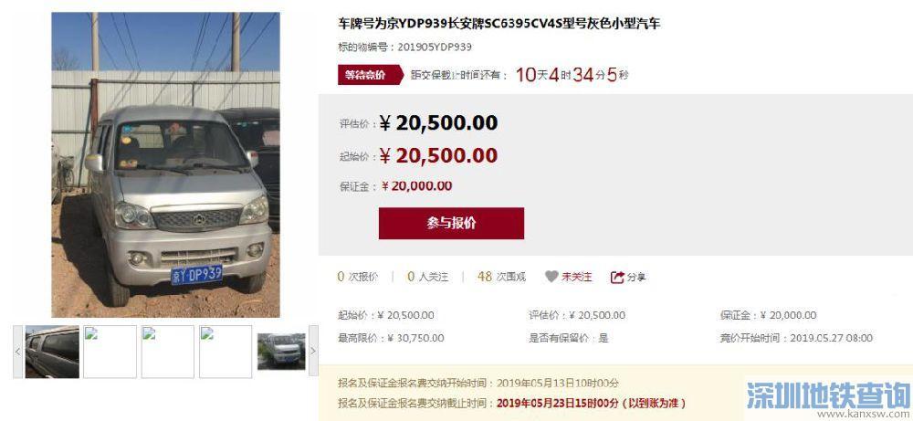 2019北京63辆涉案京牌小客车带牌竞拍 不用摇号(附竞买入口)