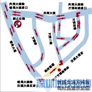 2019广州汉溪大道万博段临时通道近日开通