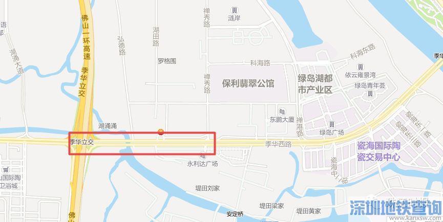 佛山禅城季华西路临时交通管制公交线路绕行方案