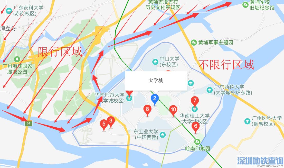 广州大学城限外地牌吗?广州大学城有没有限行?