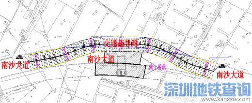 2019广州地铁18号线横沥至番禺广场区间近期将围蔽施工