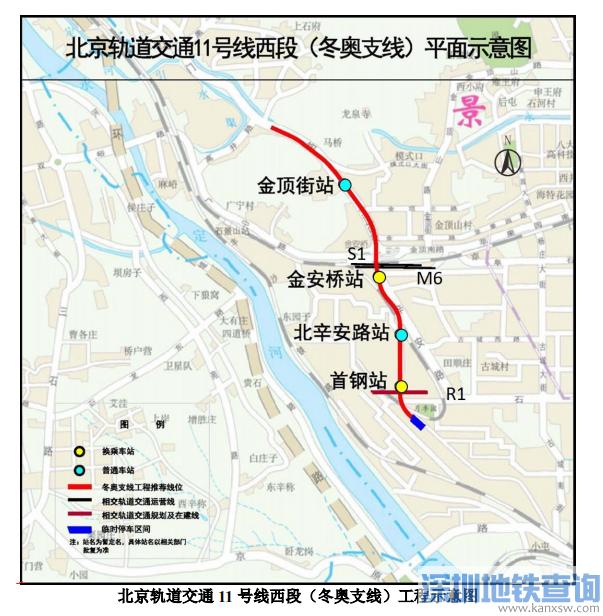 北京地铁11号线冬奥支线最新进展:2021年底建成通车