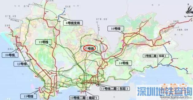 深圳地铁17号线站点一览 24站已基本确定