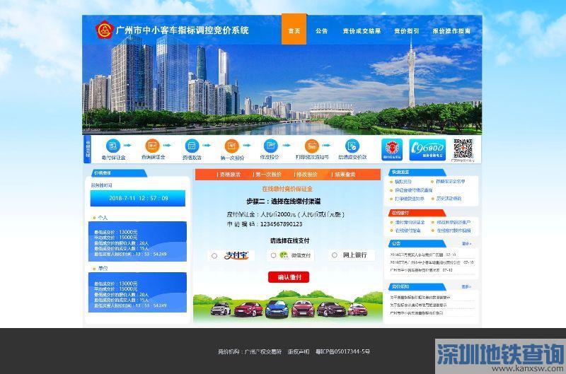 参加广州2019年8月车牌竞价保证金要怎么交?最迟什么时间