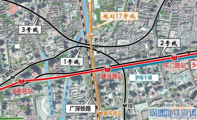 深圳地铁5号线西延段换乘车站、可换乘的线路一览