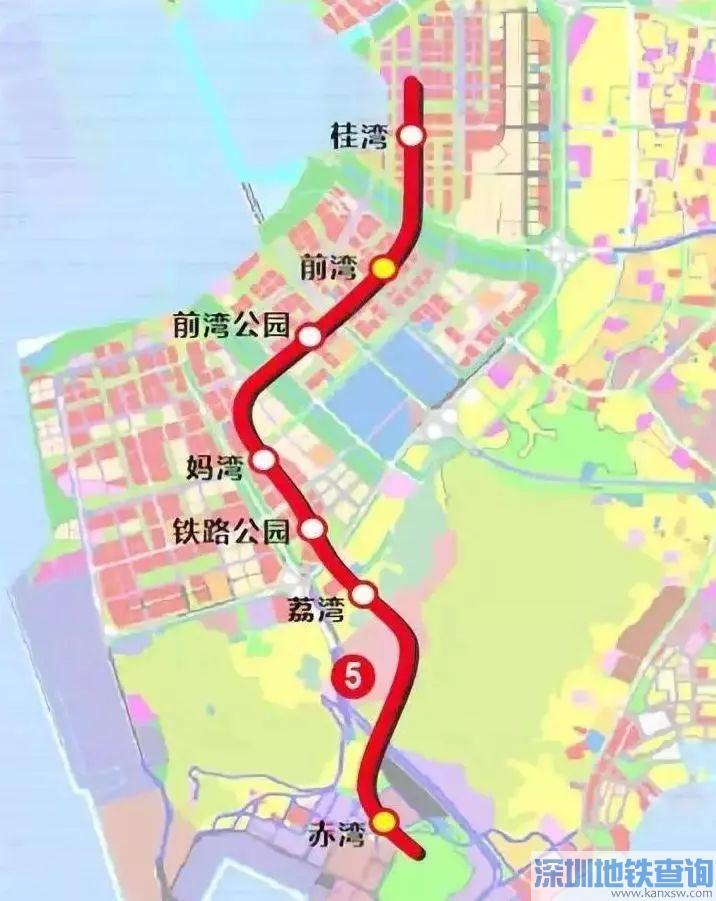 深圳地铁5号线南延段站点具体位置分布一览