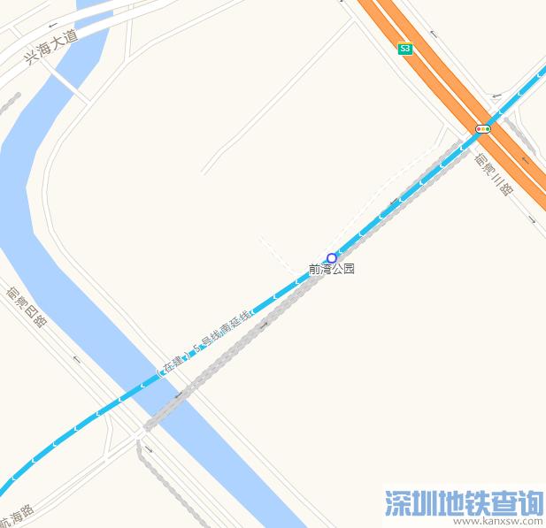 深圳地铁5号线南延段前海公园站具体地址在哪?附详细规划位置图