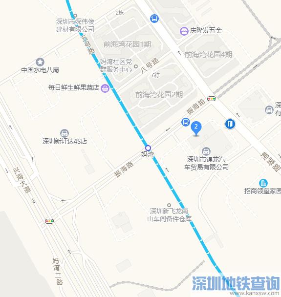 深圳地铁5号线南延段妈湾站具体地址在哪?附详细规划位置图
