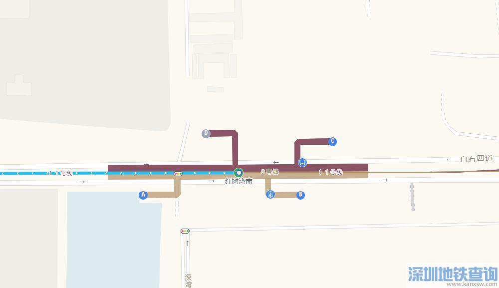深圳地铁9号线西延段红树湾南站位置、出入口介绍、接驳公交一览