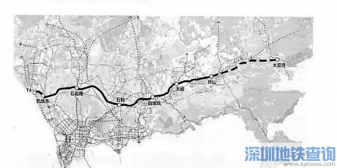 深圳地铁33号线规划有新调整 拟调整为城际轨道