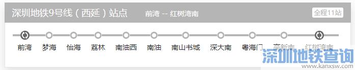 深圳地铁9号线西延段路线图