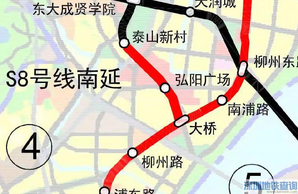 南京地铁s8号线南延线站点及站点位置