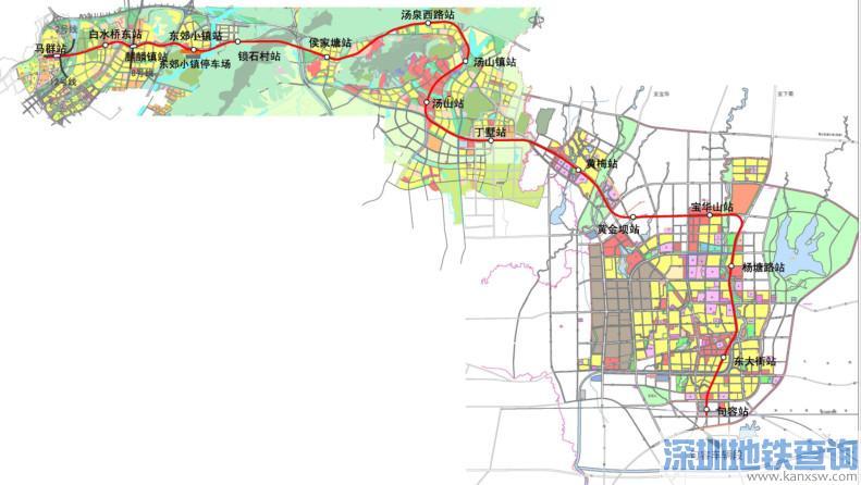 南京地铁s6号线线路图