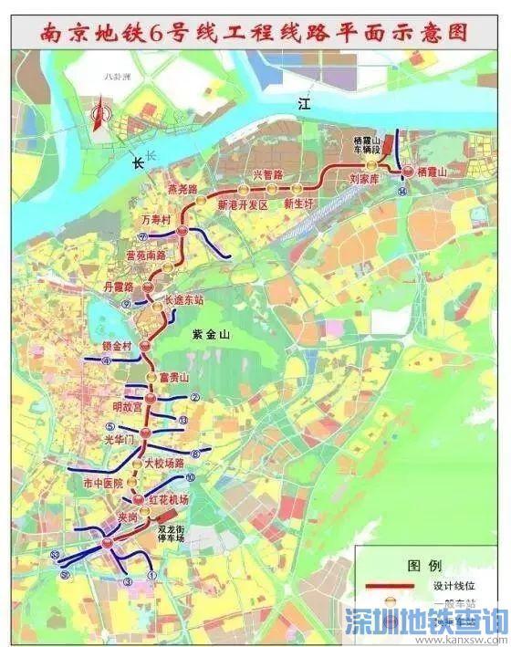 南京地铁6号线最新线路图