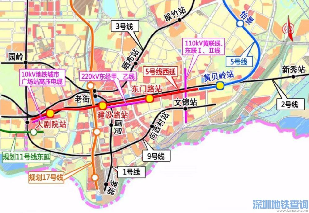 深圳地铁5号线西延线近日开工 这些站点有经过你家门口吗