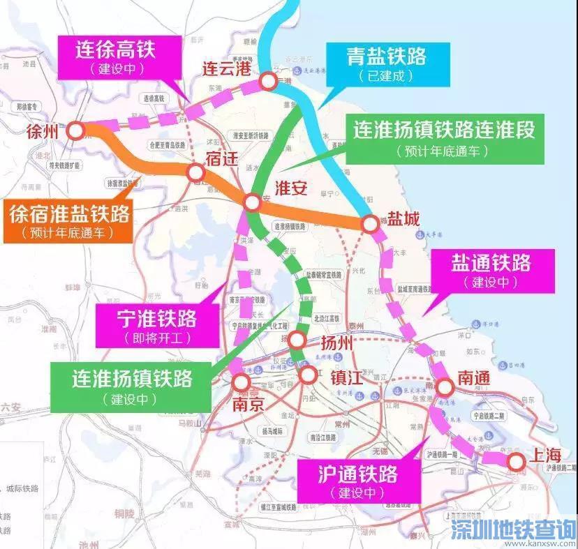 宁淮铁路最快2019年9月开工建设(附站点、工期)