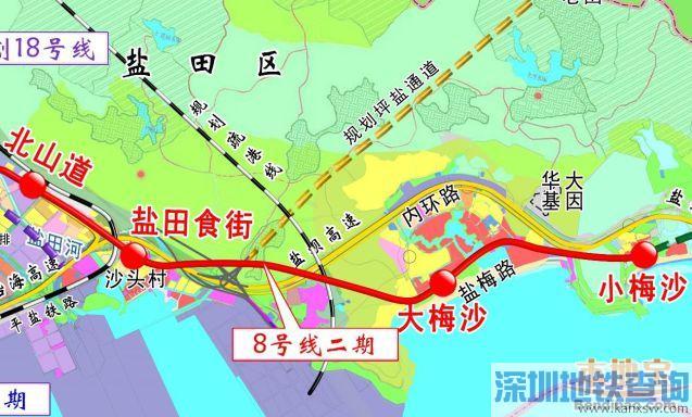 深圳地铁8号线二期2019年9月最新消息进展
