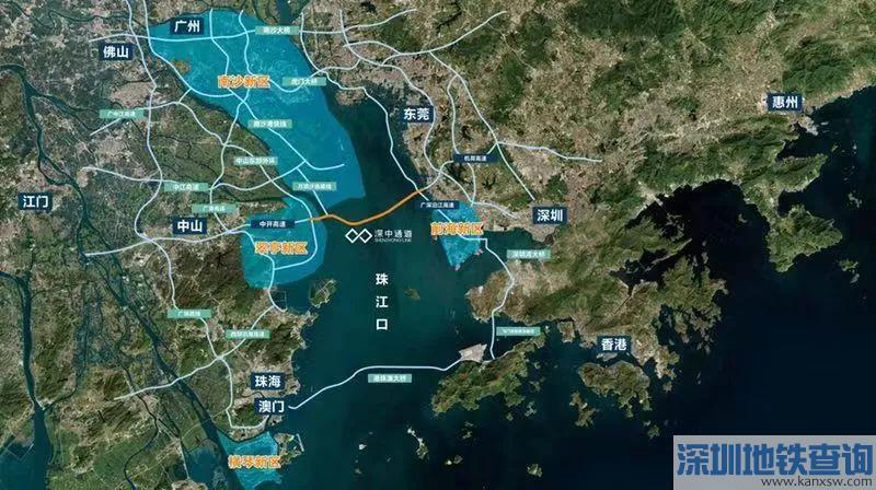 深中通道建设近日全线展开 预计2024年建成通车
