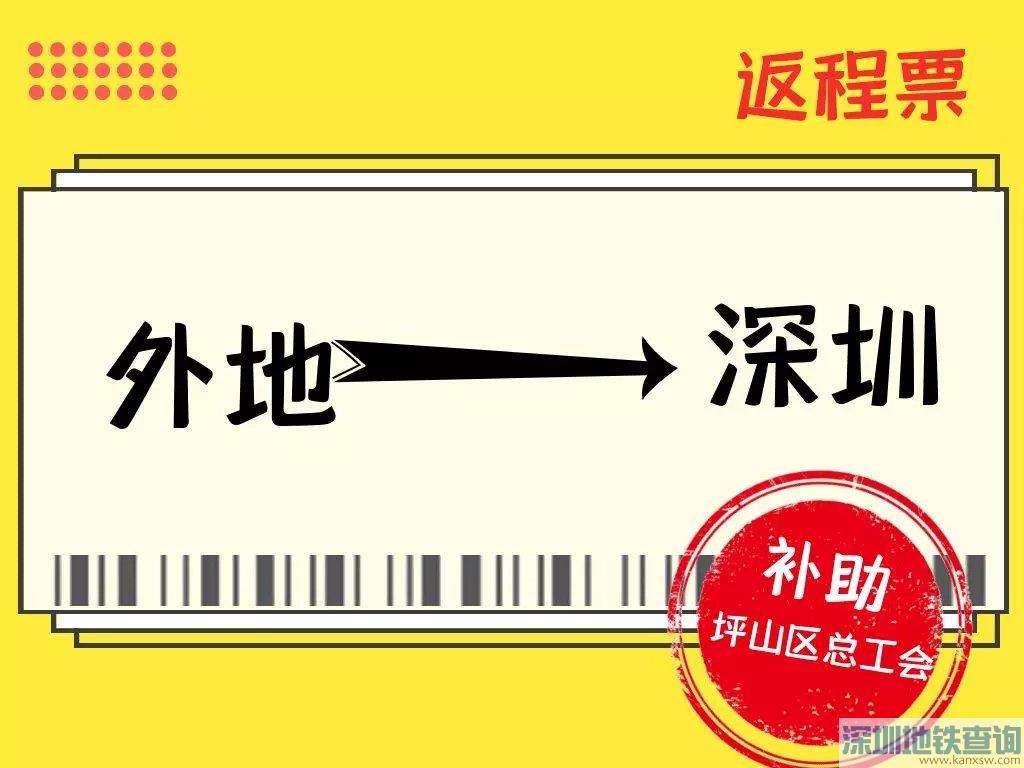 深圳坪山职工2020年春节回深交通费补贴申请图文教程指南
