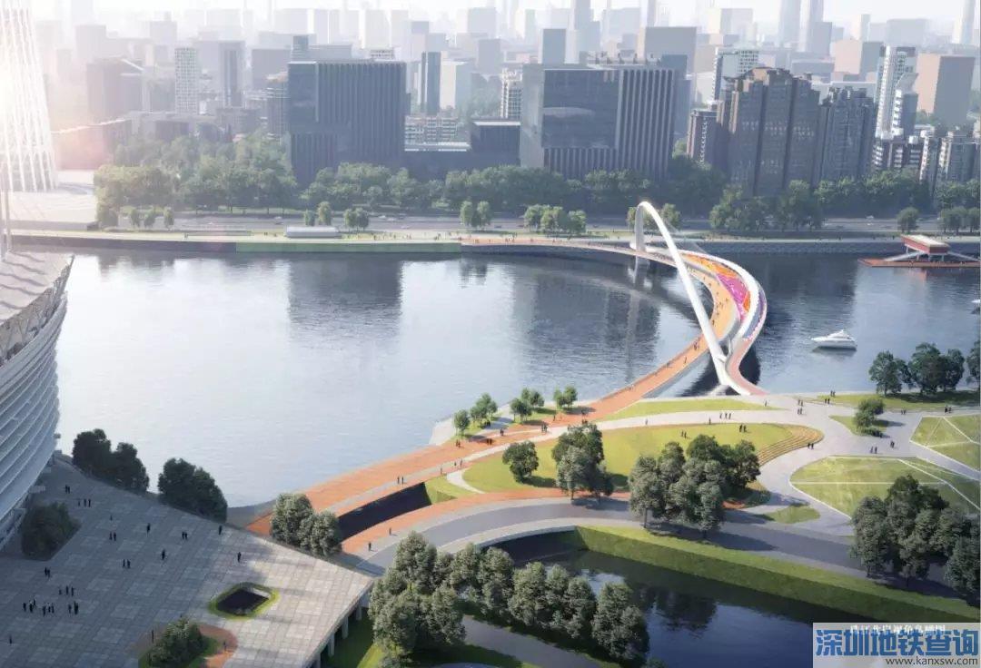 2020广州塔到二沙岛步行桥最新规划效果图