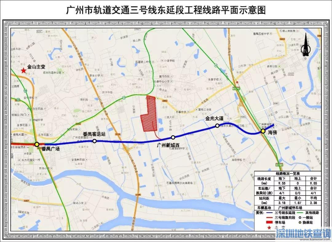 广州地铁3号线东延段2020年11月最新消息进展