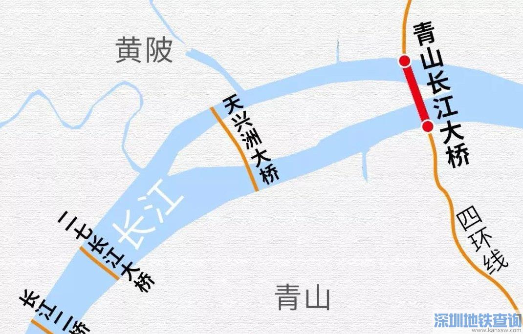武汉青山大桥近日已全面建成等待通车