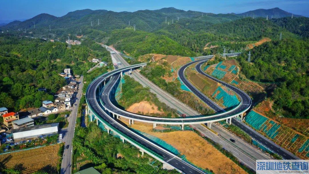梅龙高速公路梅州东联络线2020年11月18日正式通车