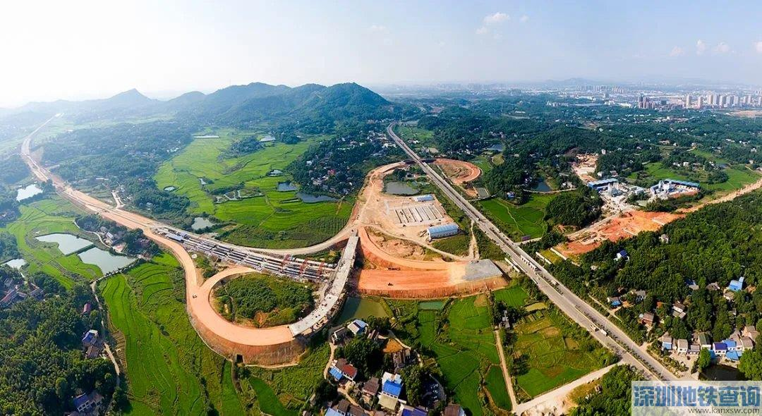长沙绕城高速公路望城经开区互通式立交工程预计今年6月正式通车