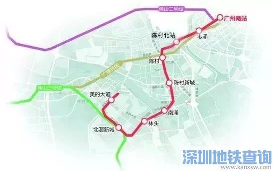 广州地铁7号线西延顺德段预计2021年底整线试运行
