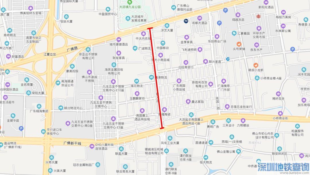 联河北路道路2020年5月1日至12月31日施工(附受影响的公交路线调整)